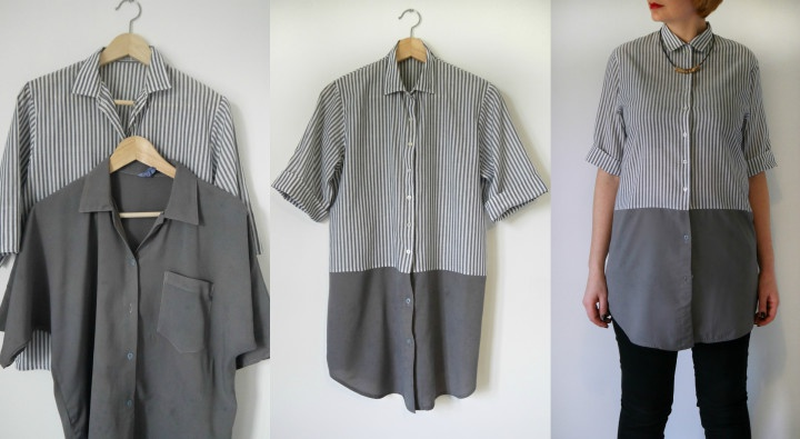 Костюм из мужских рубашек