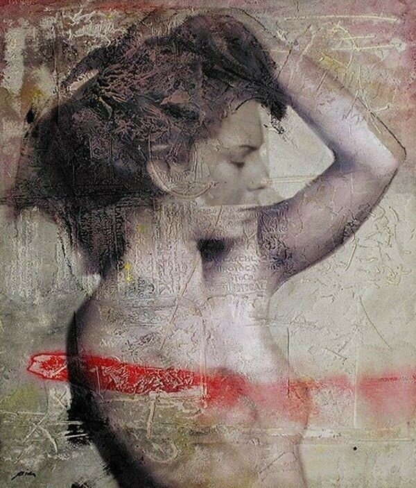 Имитация живописи на каменных стенах. Pier Toffoletti