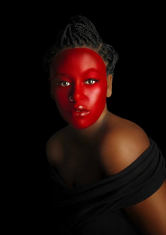 Проект против расизма   Женские портреты с яркими цветными лицами