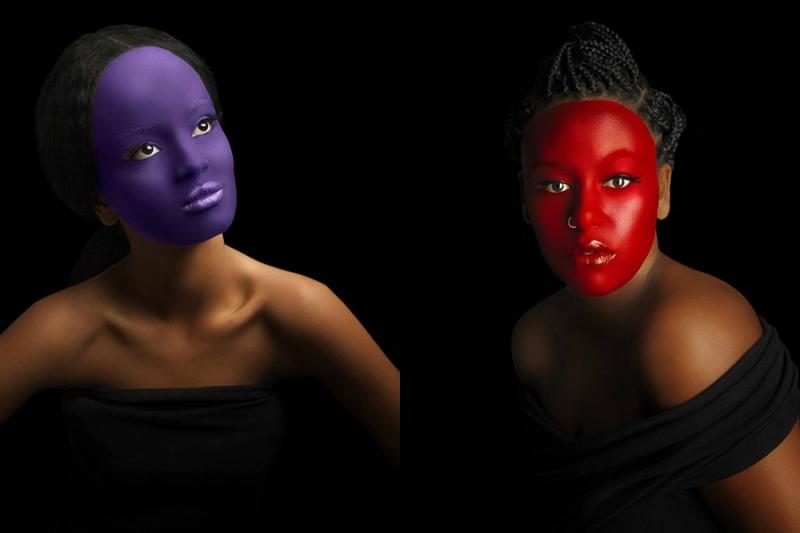Женщины покрасили лица для борьбы с расизмом