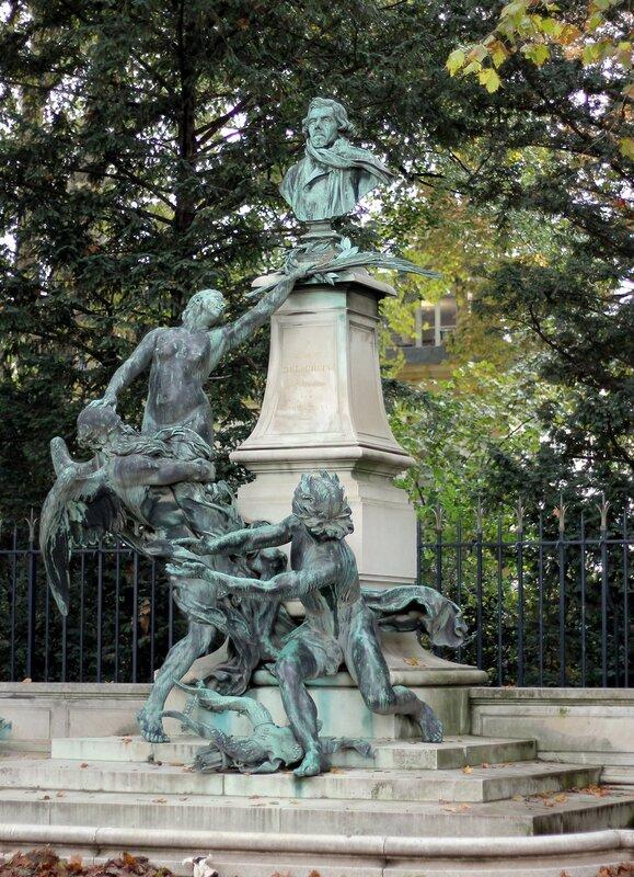 Париж. Памятник Эжену Делакруа (Ferdinand Victor Eugène Delacroix)
