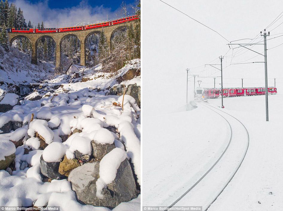 Фотографам несказанно повезло сделать эти потрясающие снимки, ведь сильные снегопады, а значит, и за