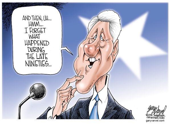 Cartoonist Gary Varvel: President Bill Clinton's memory