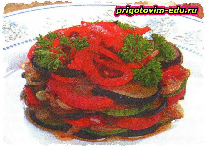 Закуска из обжаренных овощей