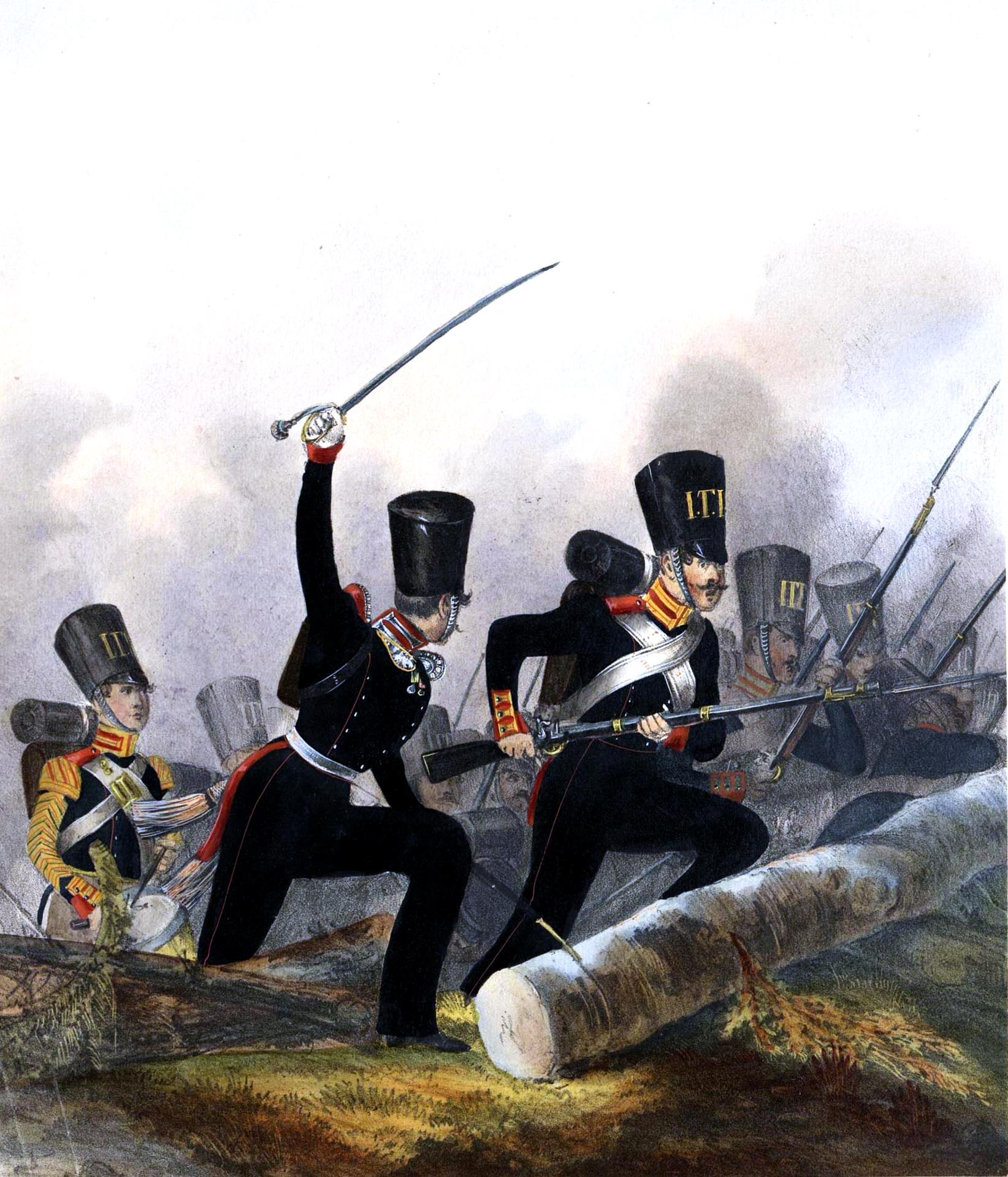 019. Kaiserthum Russland Garde-Regiment Lithauen: Offizier und Gemeine im Feldanzug / Российская империя