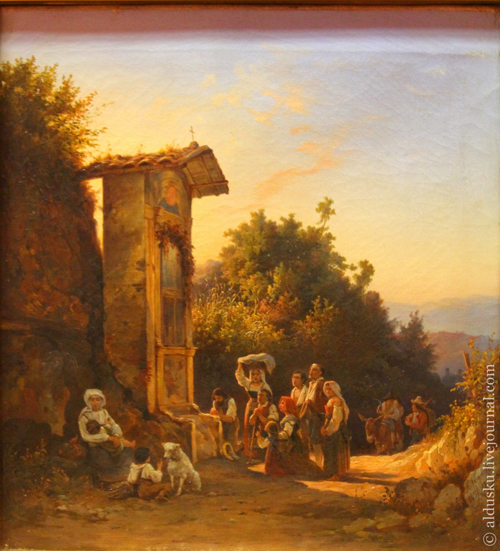 Иванов (Голубой) А.И. (1818–1863) Из окрестностей Рима. Сцена перед часовней. 1851 Холст, масло