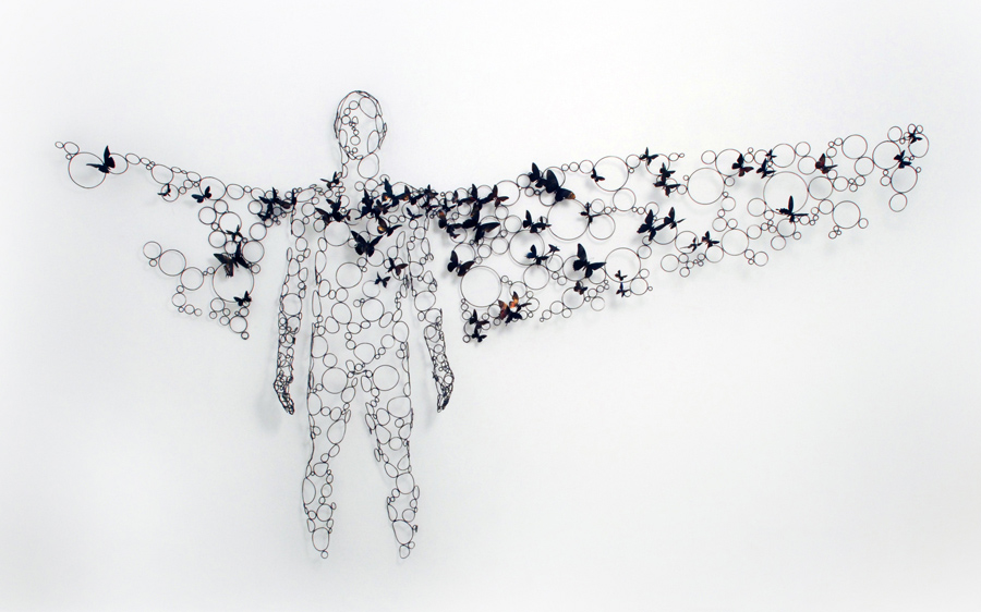 Artist Paul Villinski Brings Flight to the Gallery with Swarms of Repurposed Aluminum Can Butterflies (10 pics)