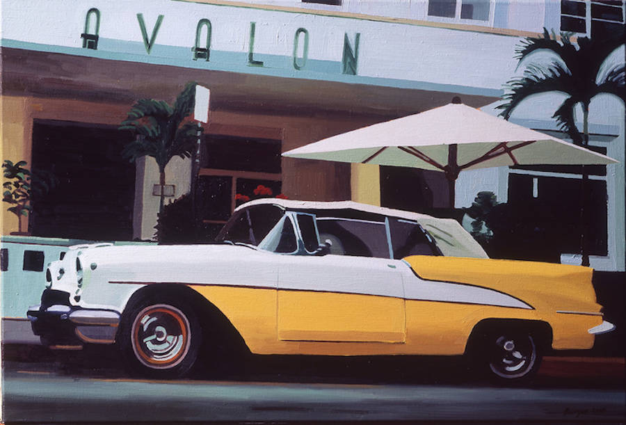 Realistic Paintings of Vintage Cars