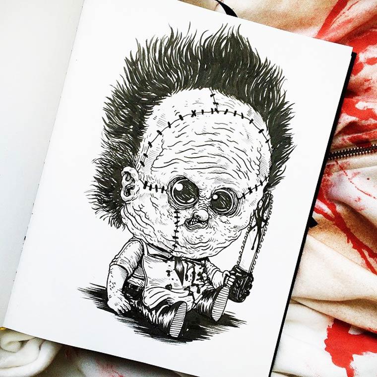 Baby Terrors - Les personnages cultes des films d'horreur retombent en enfance