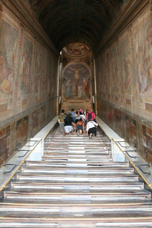 A Escada Santa em Roma