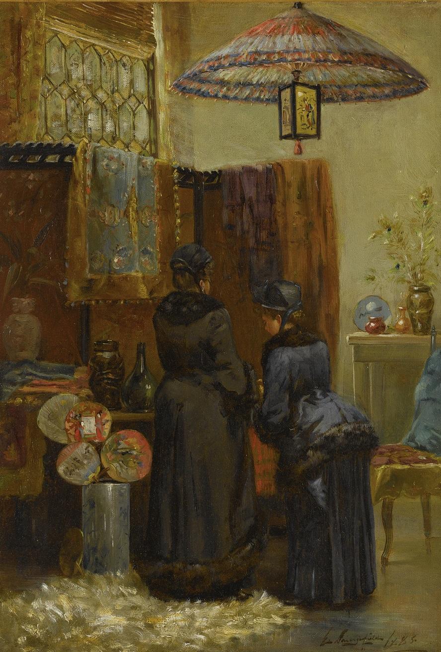 ELLIOTT DAINGERFIELD (1859-1932) - A QUAINT ORIENTAL SHOP.jpg