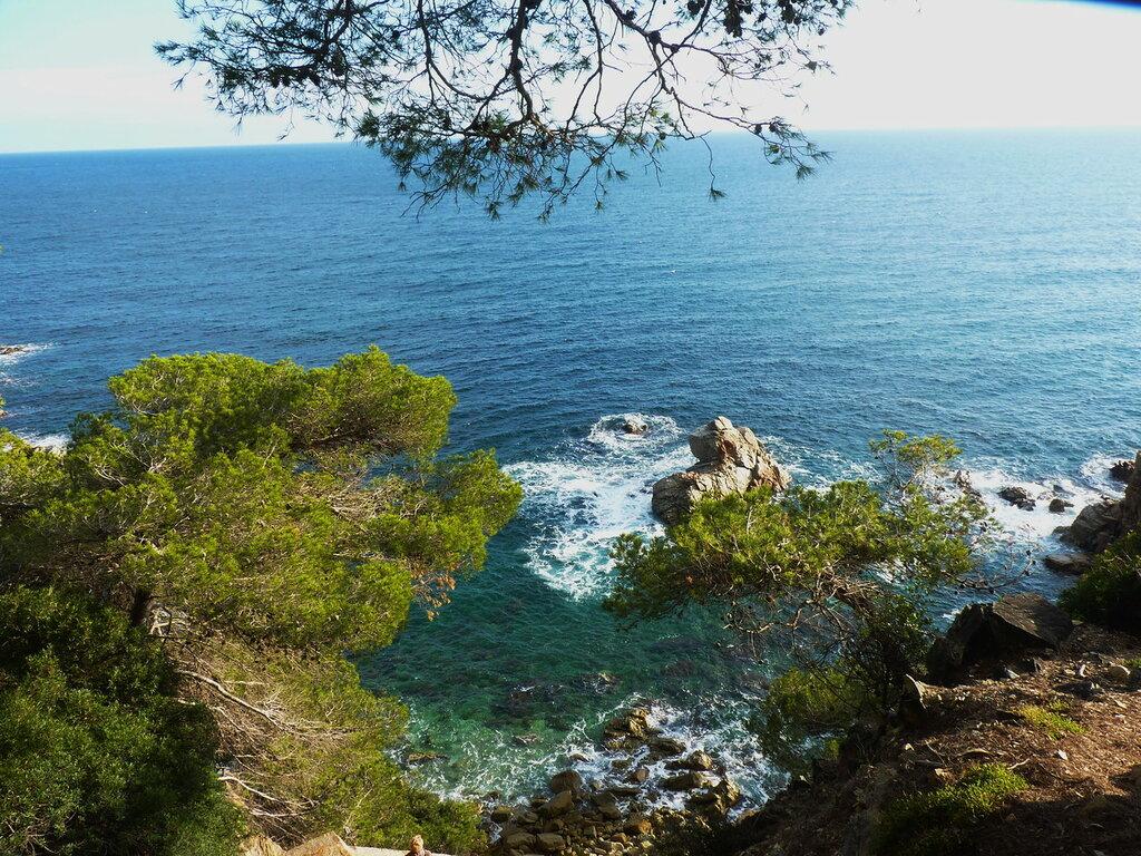Каталония... Скалистые берега бухты Са Боаделья.