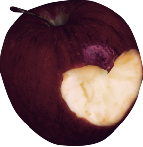 яблоки с сердечком