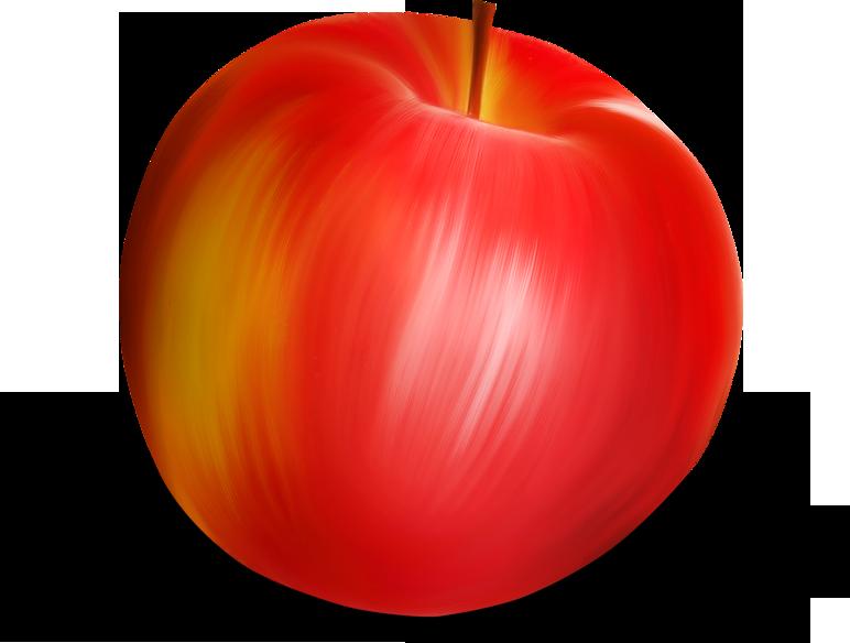 картинка на прозрачном фоне яблоко