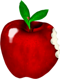 яблоки откусанные