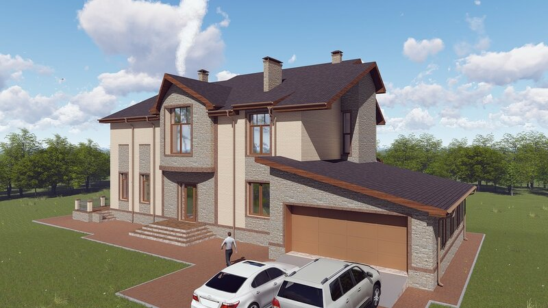 Проект дома, визуализация 6