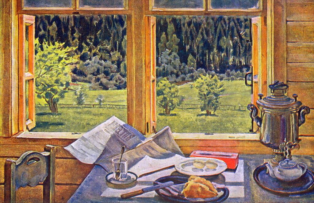 1928 Окно в природу. Лигачево, май. Холст, масло, 65х100.jpg