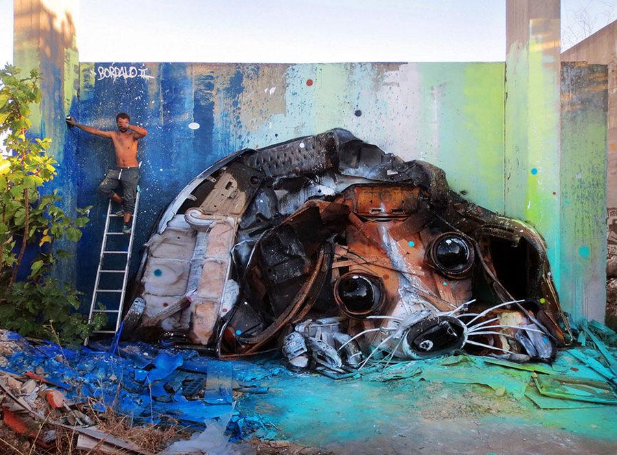 Уличное искусство из мусора и металлолома – образы животных Артура Бордало