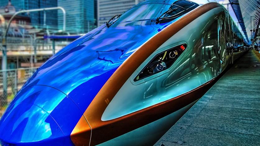 Новый скоростной поезд в Японии. Автор фото: zoo777star