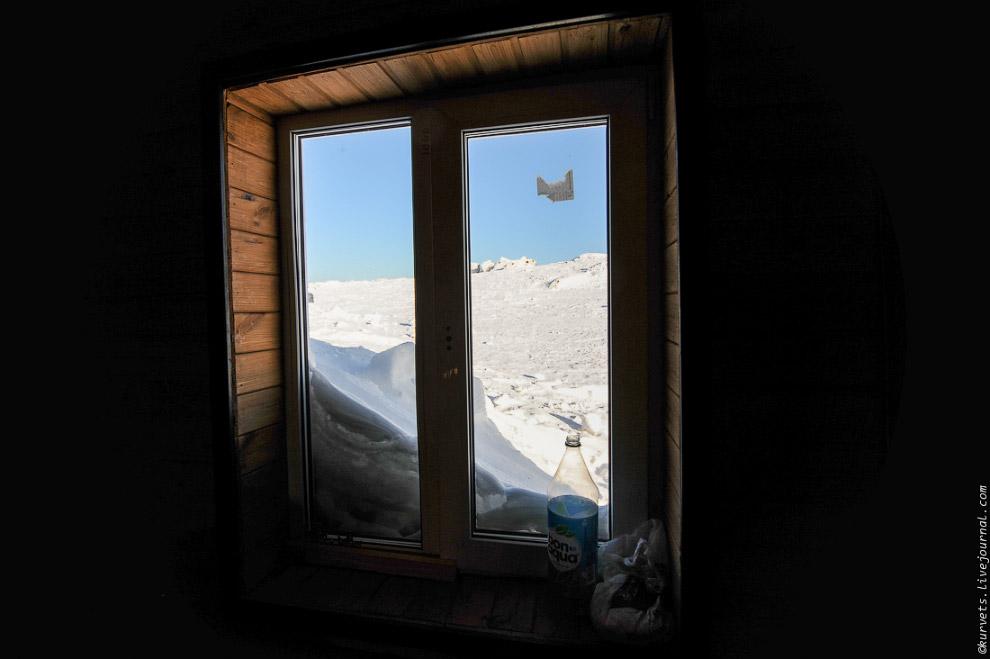 3. В доме тепло и хорошо, за окном — гуляет ветер и легкая метель. Электричества от аккумулятор
