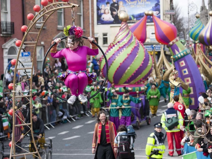 24. Дублин, Ирландия, славится своим прекрасным четырехдневным фестивалем Днем святого Патрика.