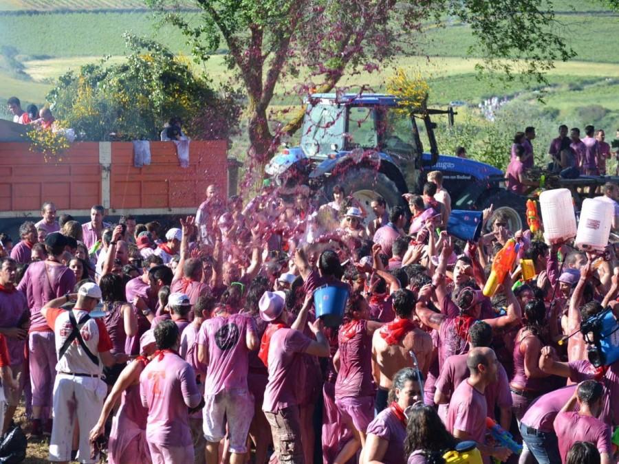 29. Ежегодно в испанском регионе Риоха проходит массовая битва вином La Batalla del Vino, в ходе кот