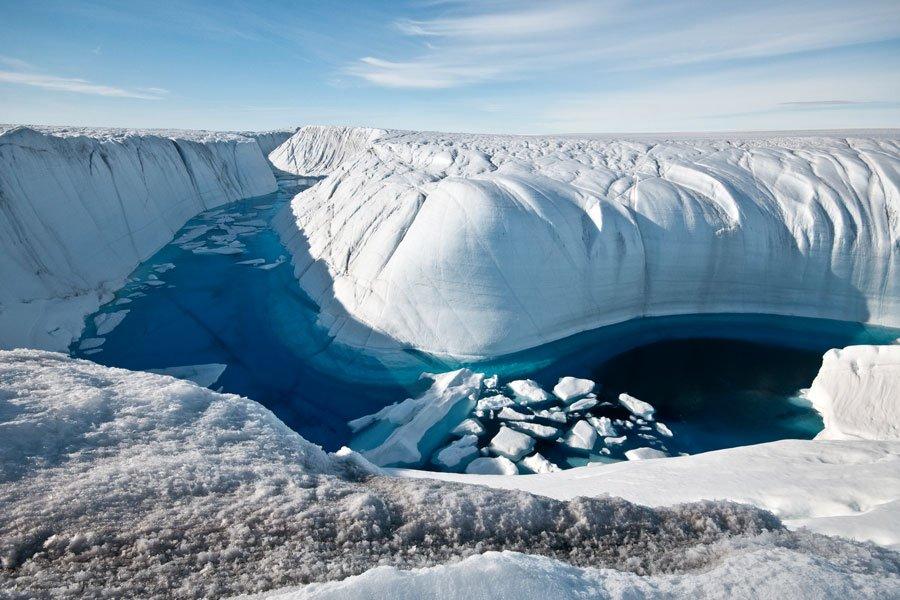 Стало известно, когда на100% растают ледники Гренландии