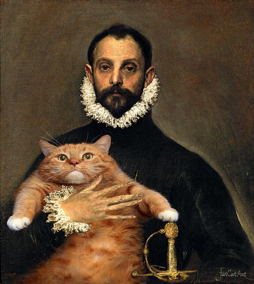 Эль Греко, Рыцарь с котом на груди