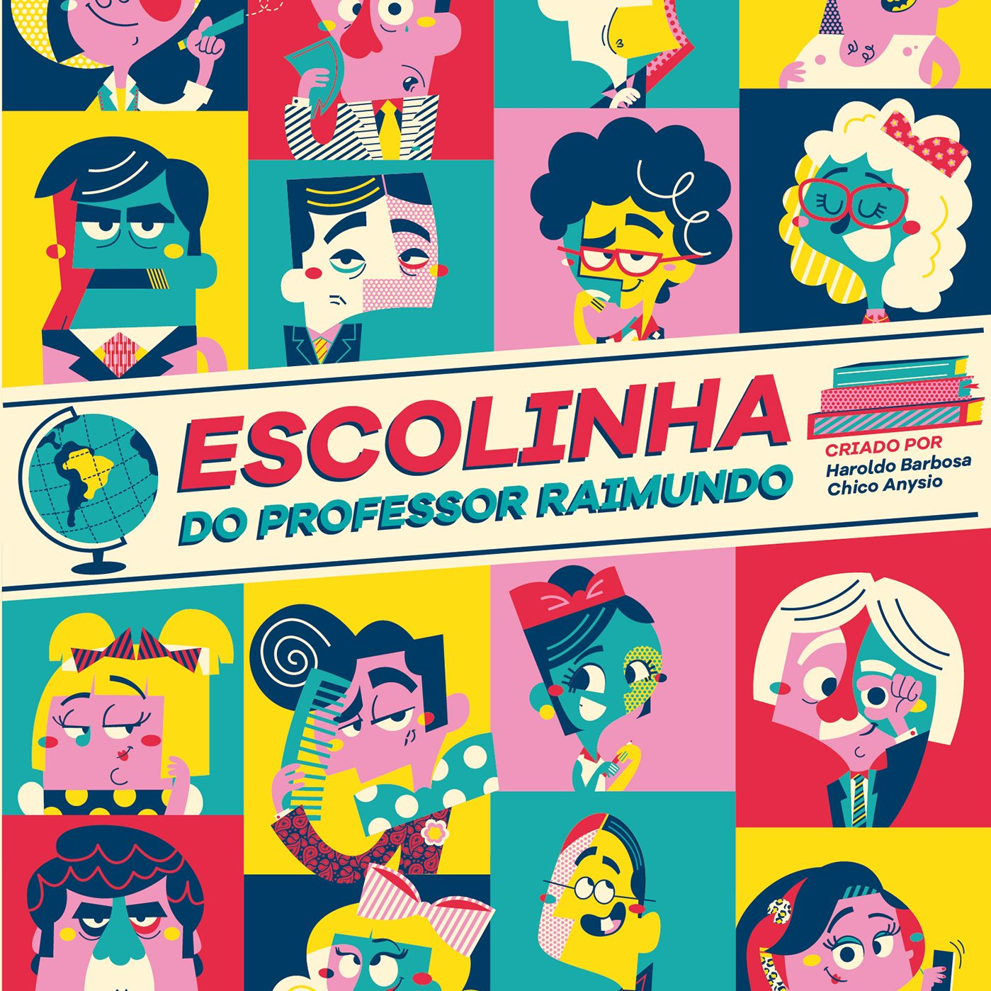 Ilustradora recria personagens da Escolinha do Professor Raimundo