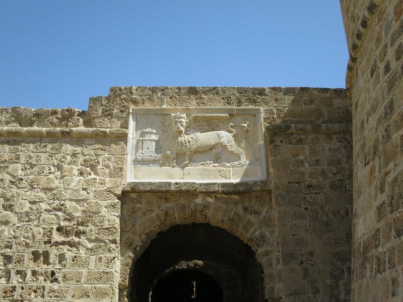 Фамагуста. Крепость. Вход в крепость, барельеф с Венецианским львом