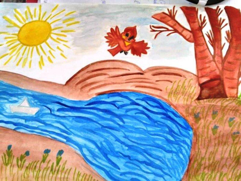 Солнышко лучистое греет веселей - Филькин Миша, 6 лет, Тема -- Рисунок, г. Саров.jpg