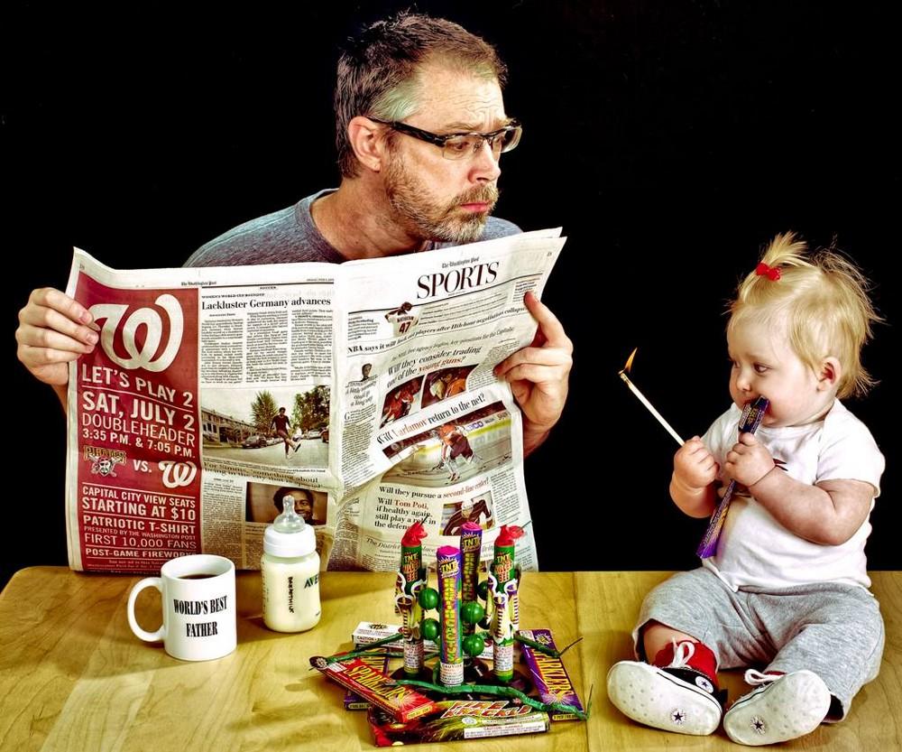 Веселый фотопроект: «Лучший папа в мире»