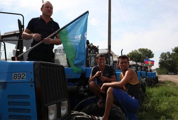 Кубанские фермеры тракторным маршем двинулись на Кремль (фото)