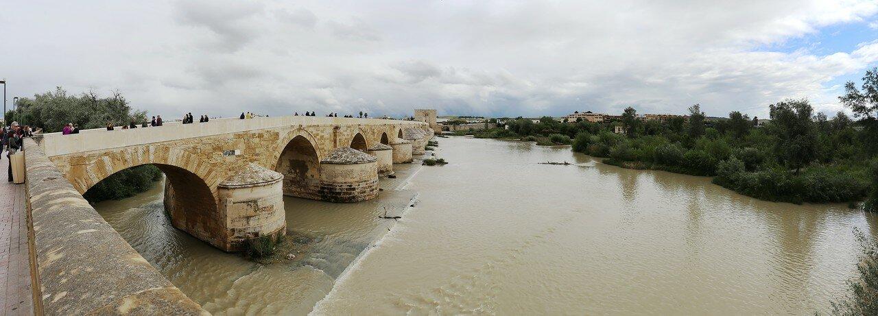 Cordoba. Shoals on Gualqivir river. Panorama
