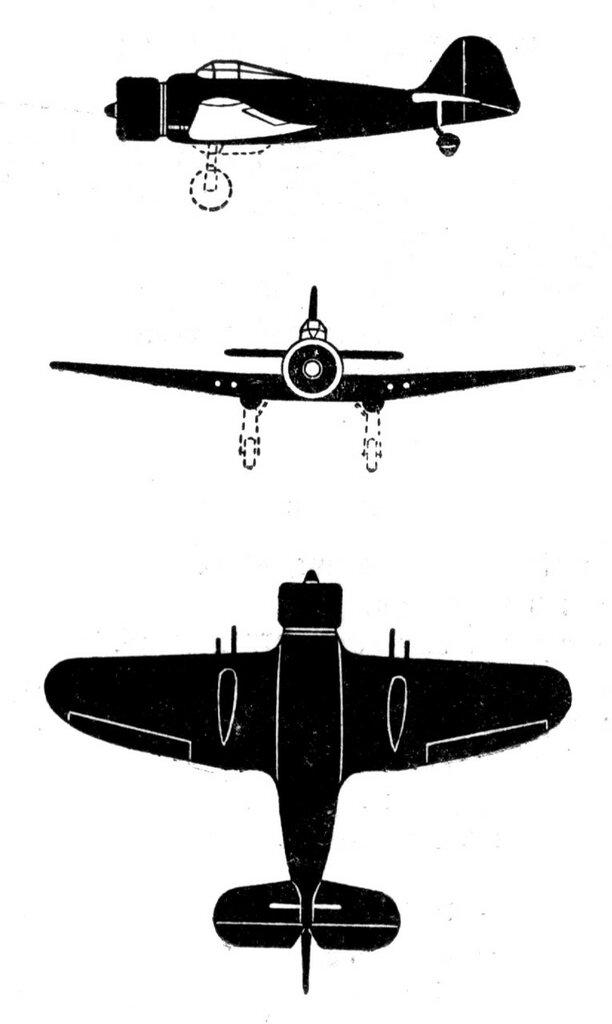 Силуэты итальянских самолетов (1939) 035