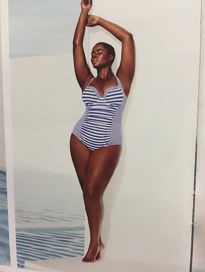 26-летняя манекенщица Филомена Квао, чей размер одежды ограничивается 54-м, сотрудничает с нью-йоркс