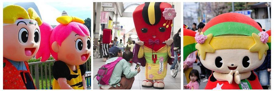 16. Практически у всего в Японии есть свой талисман