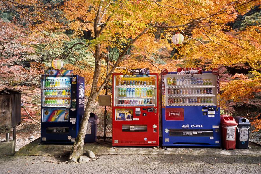 23. Здесь повсюду стоят автоматы с напитками