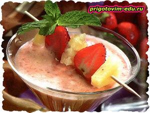 Десерт «Клубнично-ананасовый»