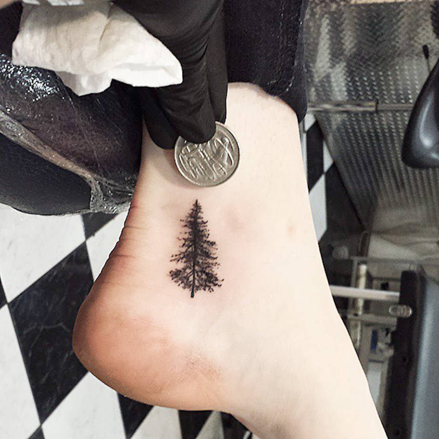 Minimal Foot Tattoos
