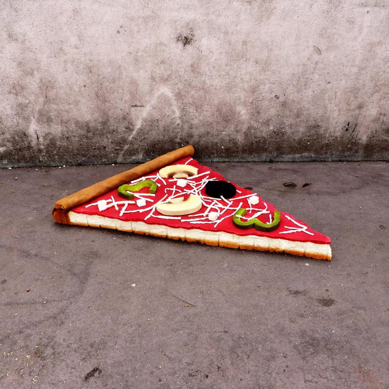 EAT ME - This street artist is turning old mattresses into giant food