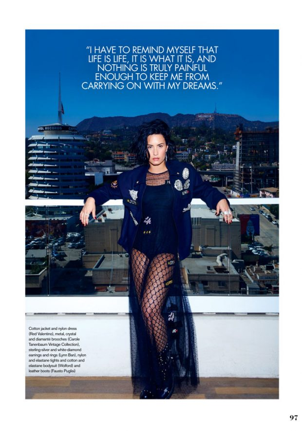 DEMI LOVATO IN MIU MIU FOR ELLE CANADA September Issue