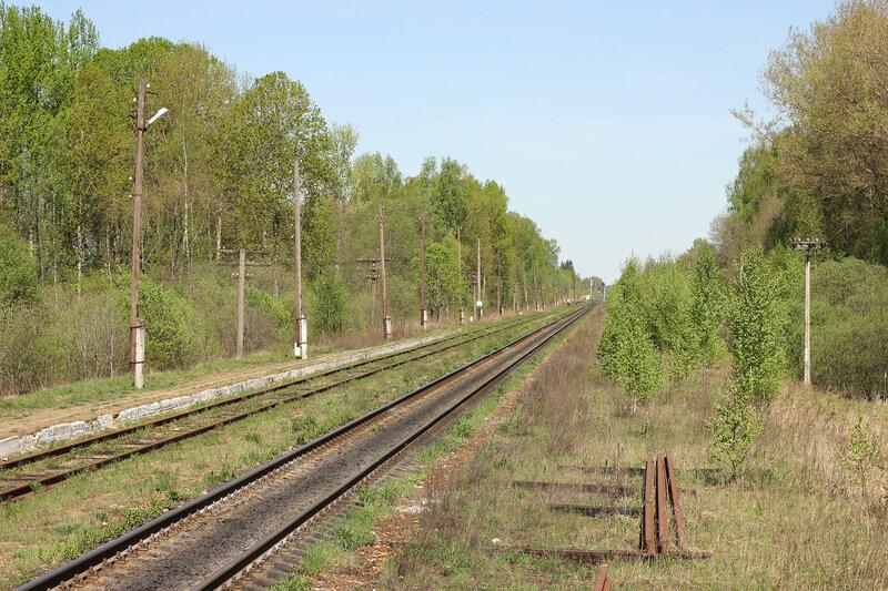 Платформа на станции Рождесвено, вид на Ржев