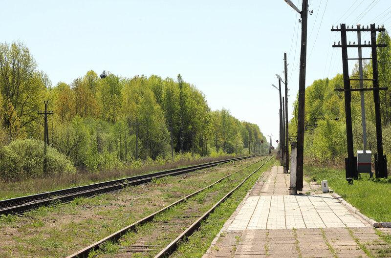 Платформа станции Рождествено, вид на Вязьму