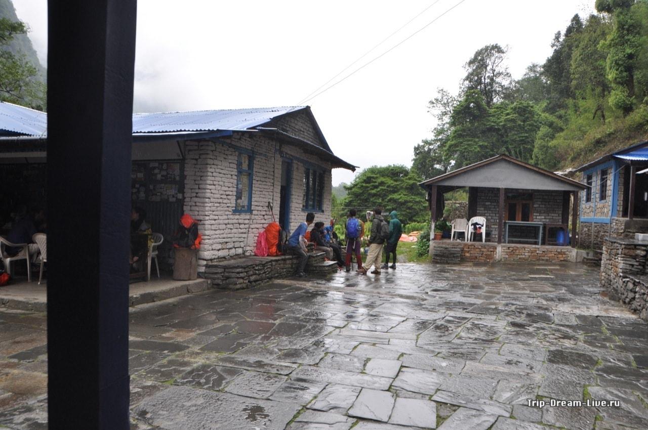 В Бамбу многолюдно - все спасаются от дождя