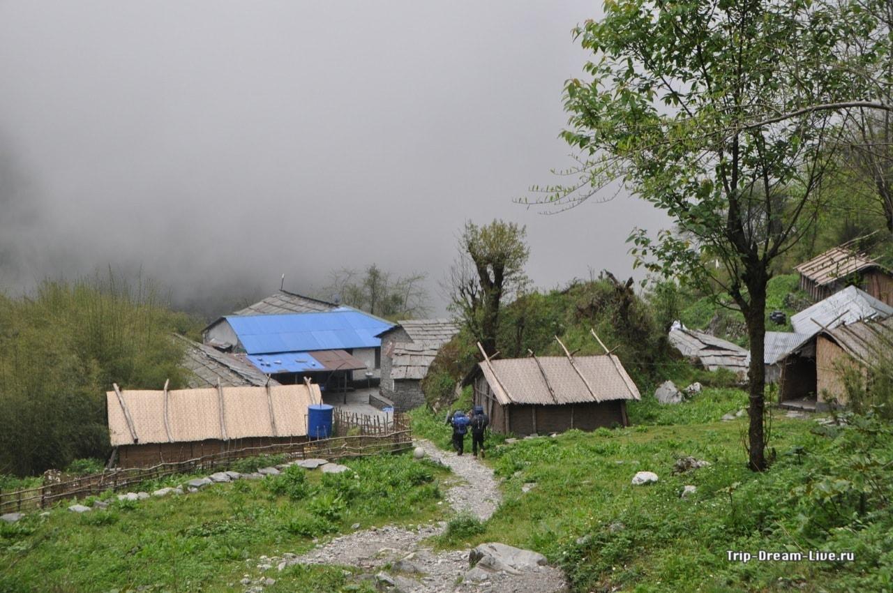 При подходе к Хималайи погода совсем испртилась