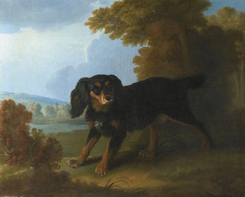 954px-Christophe_Huet_Portrait_of_Mimi,_Madame_De_Pompadour's_King_Charles_Spaniel,_In_a_Landscape.jpg