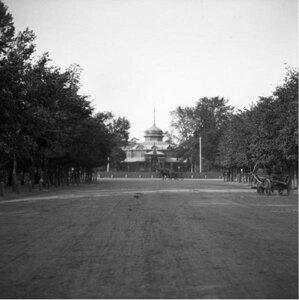 1904. Сокольничий павильон со стороны города