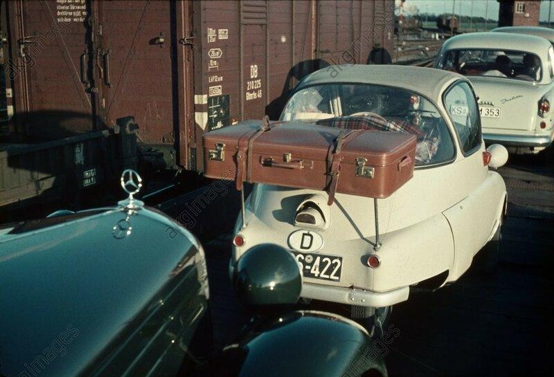 Красочное путешествие по Европе 1950-х