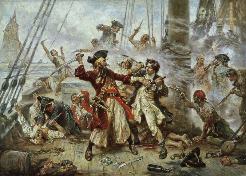 Capture of the Pirate Blackbeard by Jean Leon Gerome Ferris
